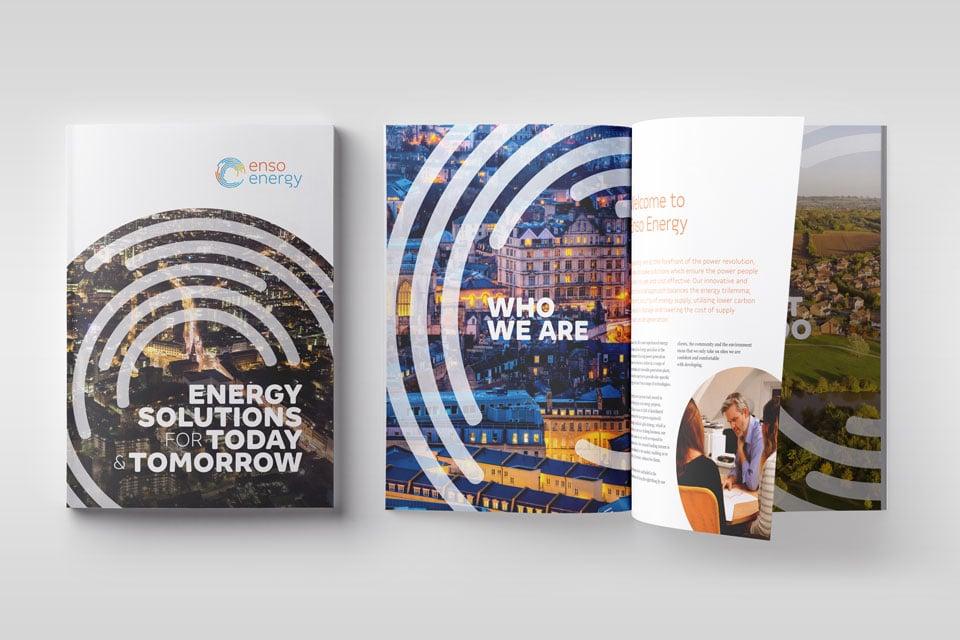 Enso Energy brochure branding