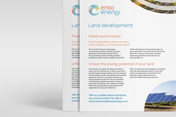 Enso Energy flyer print design