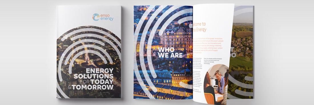 Enso Energy brochure print design