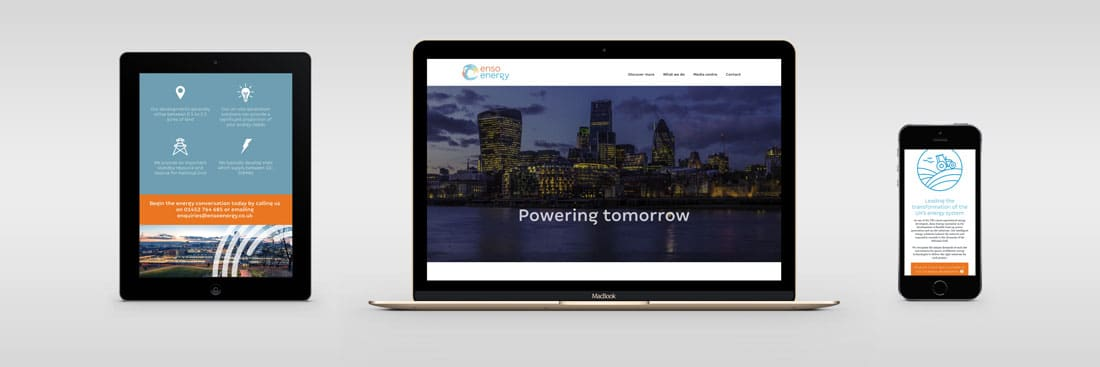 Enso Energy website design and development